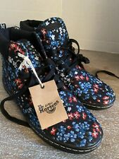 """Dr. """"Doc"""" Martens Floral Canvas High Tops NEW With Tags Size 8"""