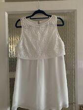 MINT VELVET WHITE DRESS SIZE 10 IN LOVELY CONDITION
