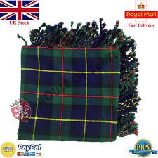 MacLeod di Harris Tartan Scozzese purled Frangia Fly Plaid per tradizionale kilt