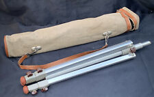 Vintage 1950's Linhof Aluminium Camera Tripod with Canvas and Leather Case
