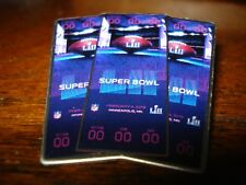 Ticket SUPER BOWL 52 COLLECTIBLE PIN EAGLES PATRIOTS NFL SUPERBOWL LII