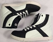 Heyday Shift Supreme High Shoes Men's US 7 Euro. 40 Black/White Leather/Rubber