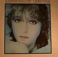"""HANNE HALLER - LIEBE USW.  12"""" LP (T 453)"""