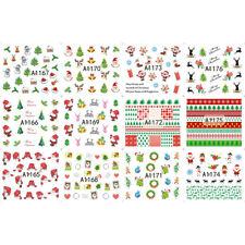 12 Patterns 3D Nail Sticker Christmas Tree Snowmen Stickers Nail Art Decoration