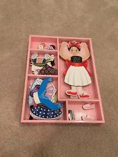 Melissa & Doug Deluxe Nina Ballerina Magnetic Dress-Up Wooden Doll