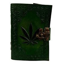 Leaf design leather journal , book of shadows, Wiccan Pagan Witch Hippy