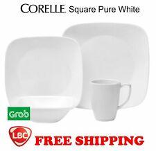 Corelle square pure white 16PC dinnerware set