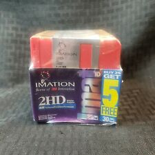 "3.5"" Floppy Disk 30 Pack  1.44 MB Imation 2HD IBM Formatted NEW Sealed"