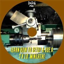 LEARN HOW TO SETUP AND OPERATE A 7x10 METAL MINI LATHE VIDEO DVD BEGINNERS GUIDE