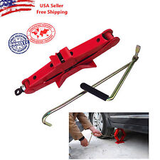 New 1 Ton Tonne Car Van Scissor Jack Wind Up With Chromed Crank Speed Handle