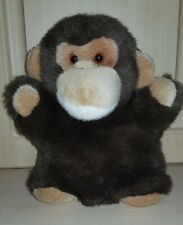 """Anna Club Plush Monkey hand puppet soft toy 10"""" vintage 1992,perfect condition"""