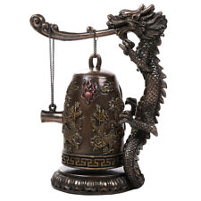 Pacific Giftware Auspicious Fengshui Oriental Dragon Gong Bell Replica