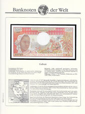 Banknotes of World Gabon 500 Francs 1978 P-2b UNC Serie F.4 sign 9