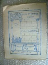 1924 New Theatre Programme THE BAD MAN- Matheson Lang,Porter E Browne