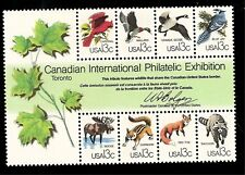 US 1978 Sc# 1757 13 ¢ CAPEX WILDLIFE (8 stamp) Sheet  Mint NH