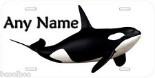 Killer Whale Personalized Any Name Novelty Car Auto License Plate P01