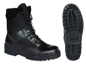 Britsh Army Style Combat Black Military Patrol Hiking Boot TA Cadet Work UK 4-12
