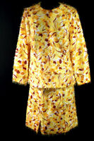 VERY RARE VINTAGE 1960'S SILK FUR YELLOW GOLD  TWO PIECE SUIT SIZE 42-44