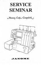 Janome Memory Craft Compulock 888 Serger Overlock Adjuster Service Repair Manual