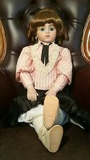 """Vintage French Bru Jne 30"""" Tall Bebe Bisque Fashion Doll With Clothes"""