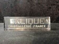 Lalique Cristallerie Store Display Sign