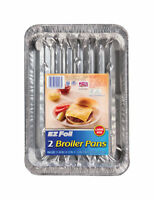 Hefty EZ Foil 8-1/2 in W x 11-3/4 in L Super Broiler Pan Silver 2pk - Pack of 12