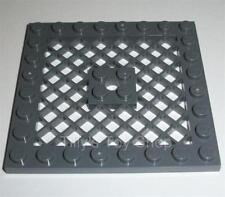 Lego - One 8x8 Stud Thin Plate Grille / Mesh - Dark Stone Grey - ID 4151 - NEW