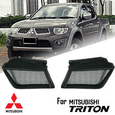 MATTE BLACK FRONT NET GRILL GRILLE FOR MITSUBISHI TRITON L200 ML WARRIOR 2005-08