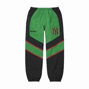 Size L - Supreme NY New York Yankees Nylon Track Pants Black Green Red FW21