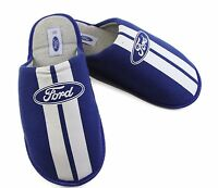 FORD Mens Grosby SCUFF BLUE Slippers Slip on Home Slipper - Size S M L XL