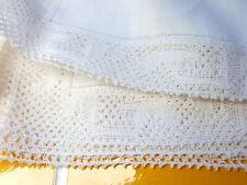More details for vintage belgian flanders bobbin lace placemats and napkins set of 16.