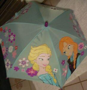 Frozen~ANNA+ELSA~Icy Blue~UMBRELLA~NWT~Disney Store-STAMP on Tag~2013