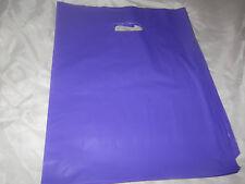 50 12x15 Glossy Purple Low-Density Plastic Retail Merchandise Bags WHandles
