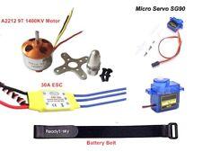 2212 1400KV Brushless Motor 30A ESC SG90 9G Micro Servo RC Fixed Wing Plane M02G