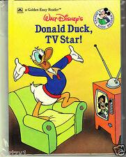 Disney Donald Duck, TV Star! Book- Level 2 by Carey (1988, HC) Golden
