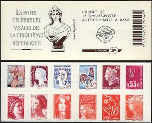 Y&T 1518 carnet  Les visages de la 5e République de 2008 - NEUF **  LUXE