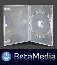 100 x Single Clear 14mm Quality CD DVD Cover Cases - Standard Size DVD case