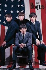 THE BEATLES POSTER Amazing US Flag Group Shot RARE HOT NEW 22x34