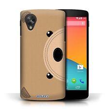 STUFF4 Case/Cover for LG Google Nexus 5/D821/Animal Stitch Effect/Bear