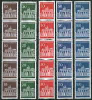 Bund Rollenmarken 506 w R - 510 w R postfrisch 5er Streifen u. Nr. Michel 186 €