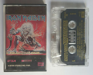 IRON MAIDEN -a real live one -RARE PARAGUAY CASSETTE