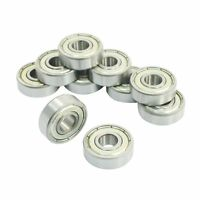 10x 608ZZ/623ZZ/624ZZ/625ZZ/688ZZ Double Metal Shields Deep Groove Ball Bearings