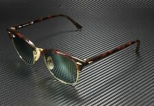 RAYBAN RB3016 990 9J Clubmaster Shiny Red Havana Green Flash 49 mm Sunglasses