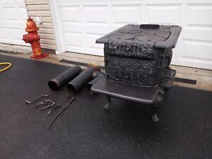 Antique Cast Iron Stove 1800s