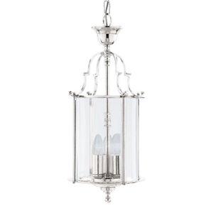 Searchlight 25cm 3 Light Chrome Georgian Ceiling Lantern Pendant Chandelier New