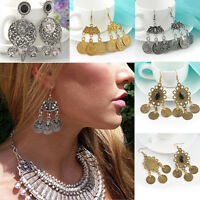 New Design Boho Gypsy Ethnic Tribal Festival Jewelry Turkish Coin Drop Earrings