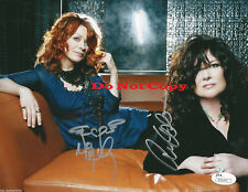 Heart band  Ann & Nancy Wilson autographed 8x10 photo RP