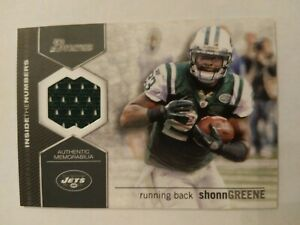2012 Bowman Shonn Greene New York Jets Iowa - Jersey