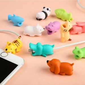 Cartoon Phone Charger Protector Soft Cord Cute Animal Biting Cable Accessories