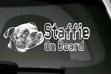 Staffie On Board, Car Sticker, High Detail, Great Gift For Dog Lover